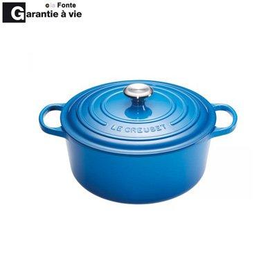 cocotte fonte ronde 24 cm bleu marseille