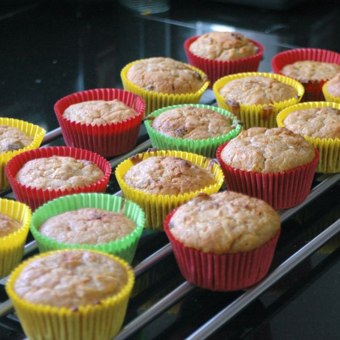 Courgettemuffins met honing