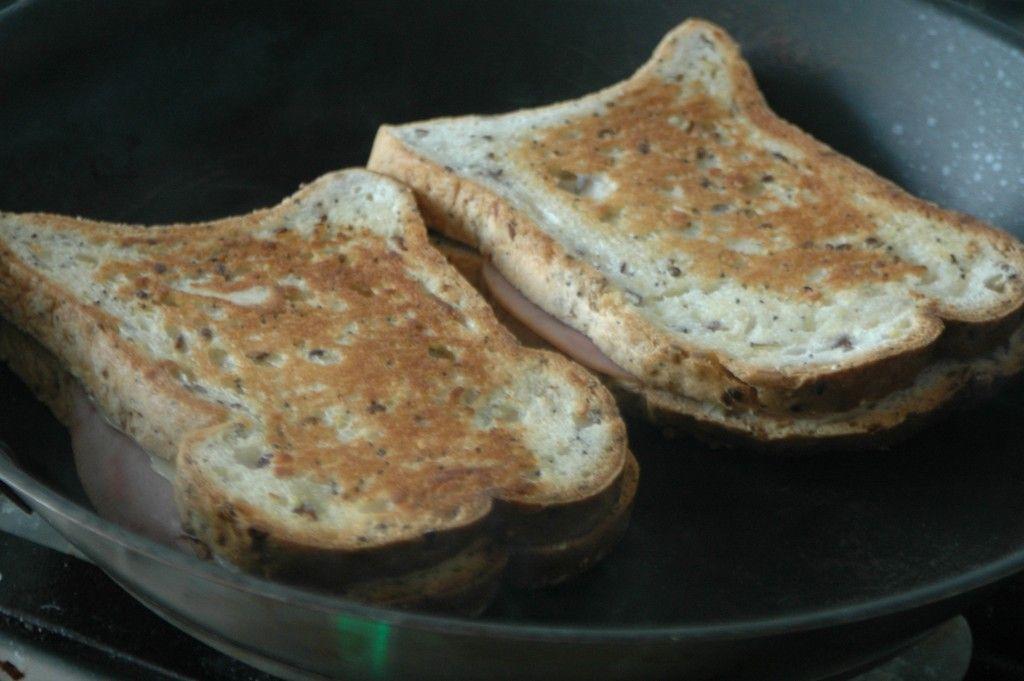 tosti maken in de pan
