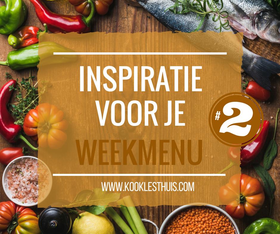 inspiratie weekmenu