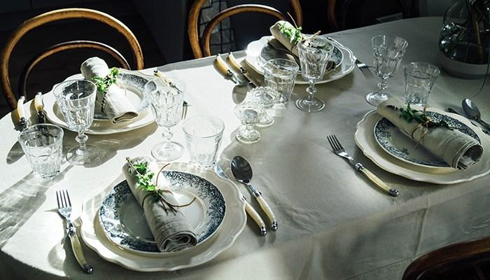 Stijlvol gedekte tafel