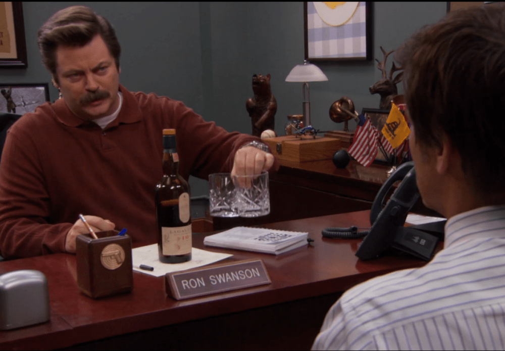 Le guide du Whisky - Ron Swanson