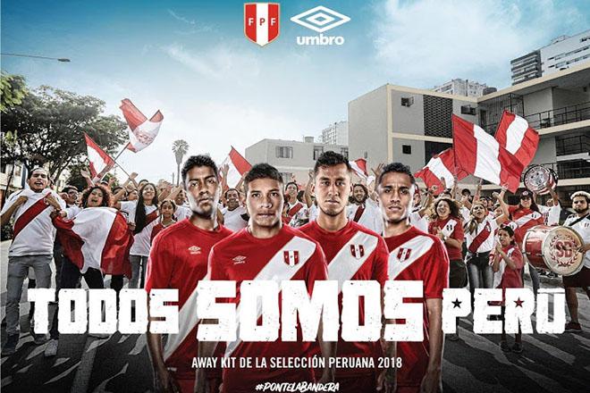 Pérou - Maillot extérieur Coupe du Monde 2018