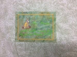 Sandy's quilt label