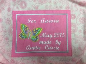 Cassie quilt label