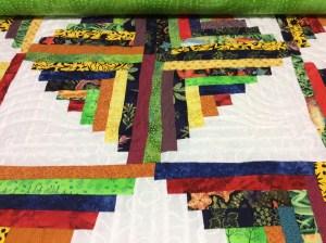 Lynette log cabin quilt