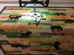 Horses quilt Verdant
