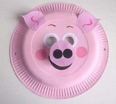 Paper Mask Template  paper plate cow craft  venetian mask