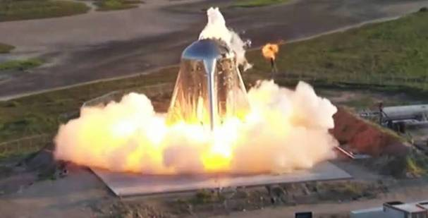 SpaceX'in Roketi Test Uçuşunda alev aldı