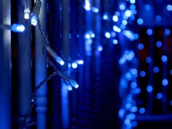 mavi led aydınlatma süsü