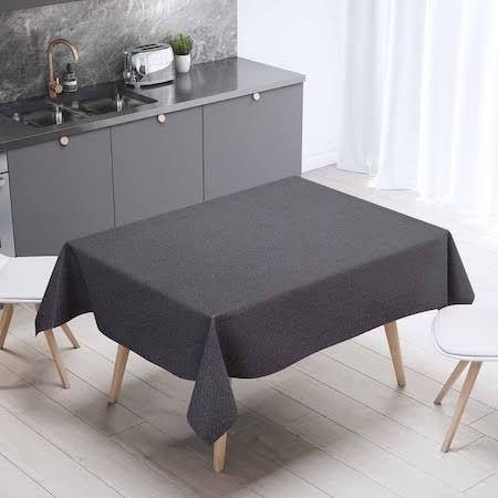 siyah mutfak masa örtüsü