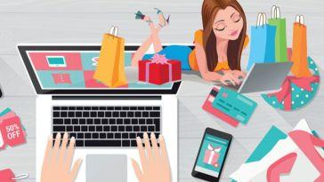 online alışveriş illustrasyon