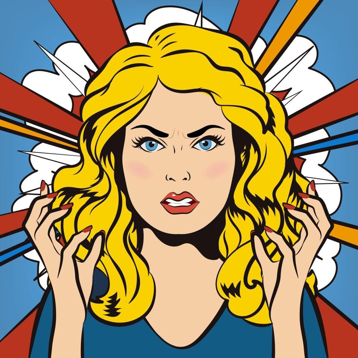 haklıyken haksız duruma düşüp sinirlenen kadın