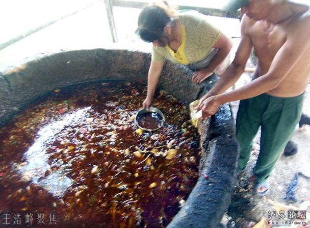 Çin'de Restoranların Lağımdan Çıkararak Kullandığı Lağım Yağı