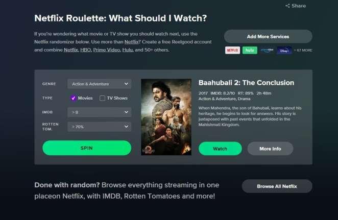 Karantina Günlerinde İzleyecek Bir Şey Bulamayanlara Dev Hizmet: Netflix Rulet Uygulaması