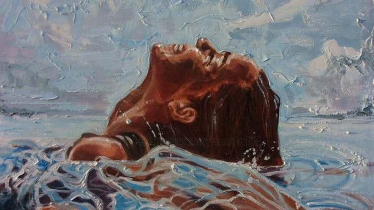 denizde kadın tablosu