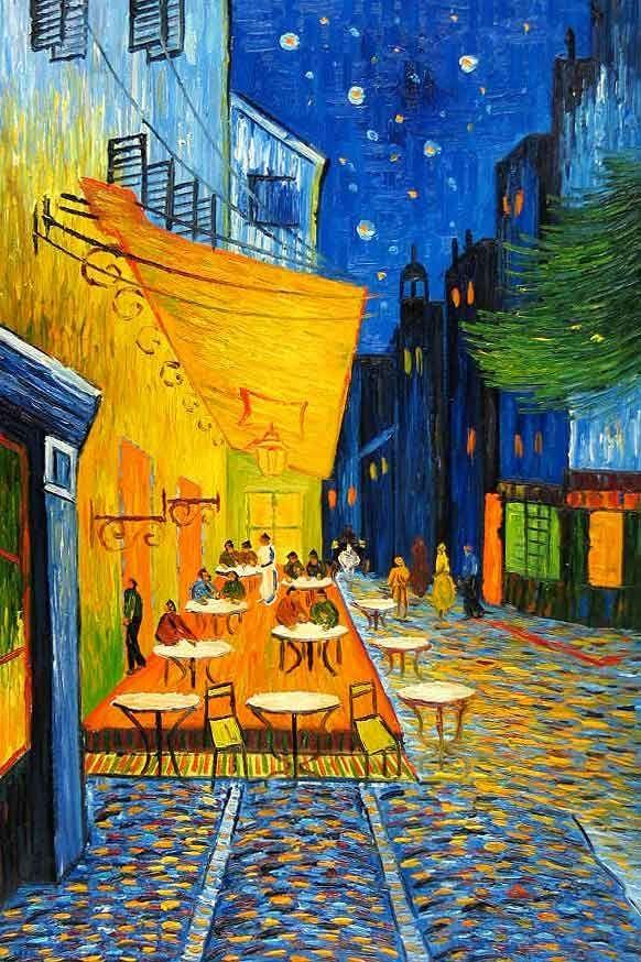 Cafe Terrace At Night (Kafe Terasta Gece)- Vincent Van Gogh