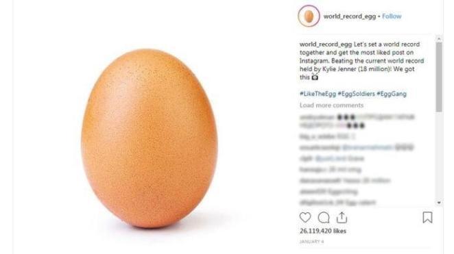 Instagram'ın Bugüne Kadarki En Çok Beğeni Alan Fotoğrafı Oldu: Yumurta
