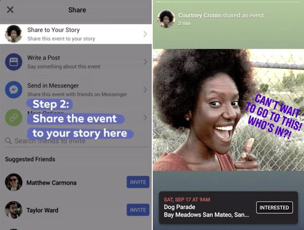 Facebook'tan Yeni Özellik: Hikaye (Story) Aracılığıyla ''Etkinlik'' Paylaşma