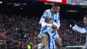فيديو: هدف ليجانيس الأول ضد برشلونة