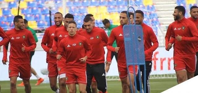 أجواء رائعة في الحصة التدريبية الآخيرة للمنتخب المغربي قبل مباراة الارجنتين
