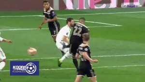 كورتوا يحرم حكيم زياش من تسجيل هدف ثاني له في مباراة ريال مدريد واياكس