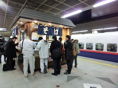 食べたのは新幹線長野駅上り線ホーム