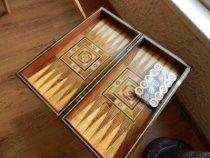 Tavla Backgammon aus Edelholz