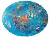 Gemälde Planet Tura von kooZal - Acrylbilder und Collagen Mischtechniken
