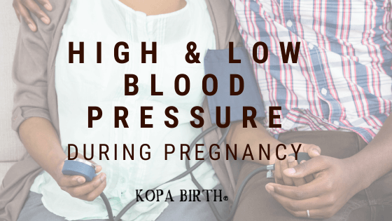 High and low blood pressure during pregnancy - image
