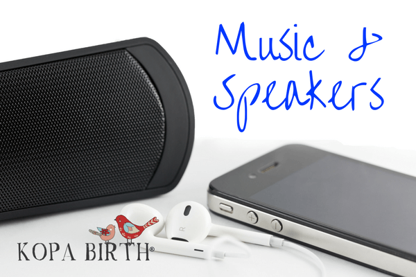 Natural Childbirth Kit Music and Speakers