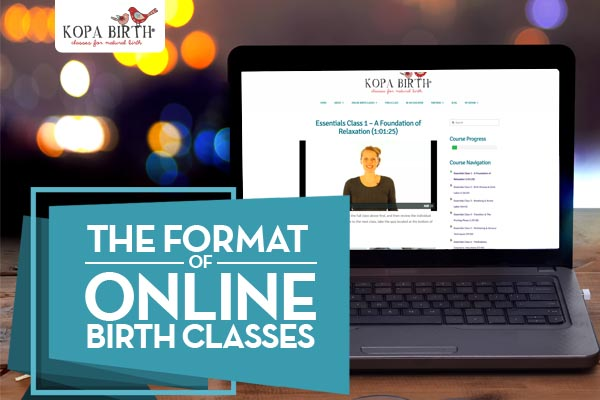 the format of online birth classes