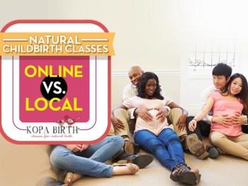 natural childbirth classes online vs local