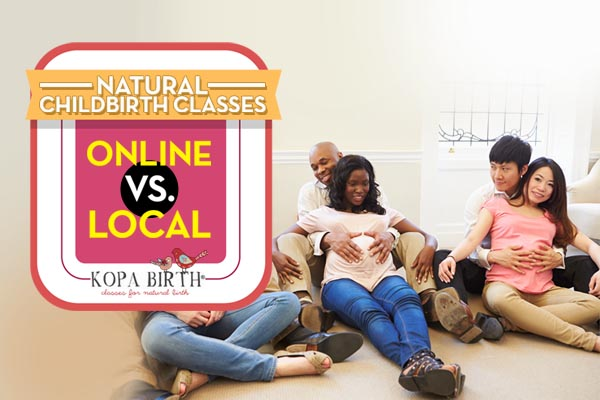 natural childbirth classes online vs local