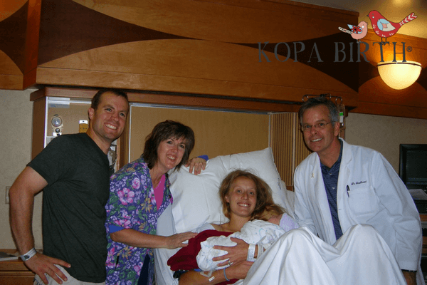 natural delivery with spontaneous pushing - seth katie nurse and doctor