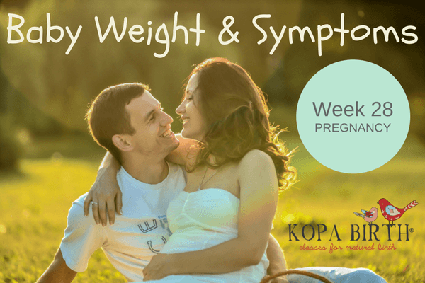 week 28 pregnancy baby weight & symptoms