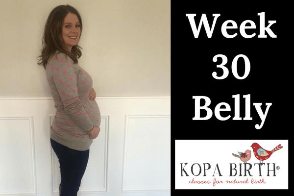week 30 pregnancy belly