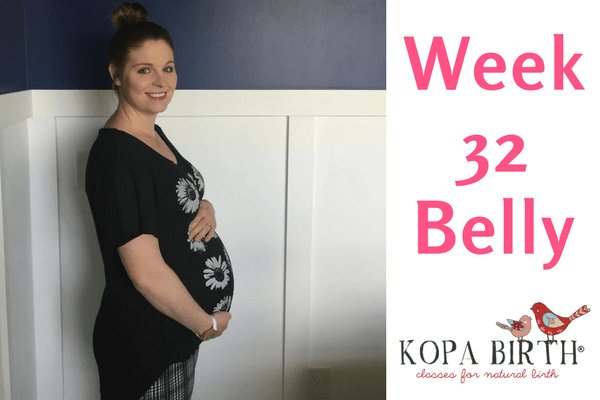 week 32 pregnancy belly