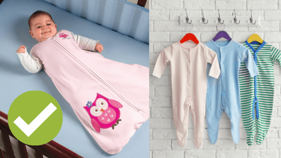what to newborns sleep in - newborn sleep clothing dos