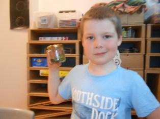 Patrekur Ari, 6 ára nemandi í Dal, á sér þann draum að verða skordýrafræðingur.