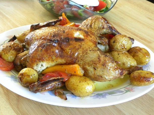 Κοτόπουλο ψητό αλά Κυπριακά στο φούρνο εικόνα