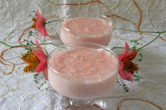 ροζόττο ροζ ρυζόγαλο εικόνα