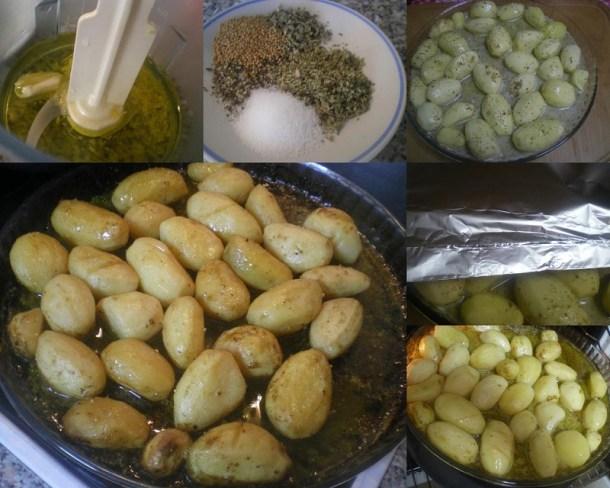 κολάζ πατάτες λεμονάτες εικόνα