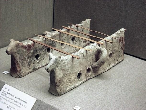 κρατευτές σουβλακίων Ακρωτήρι Σαντορίνης εικόνα