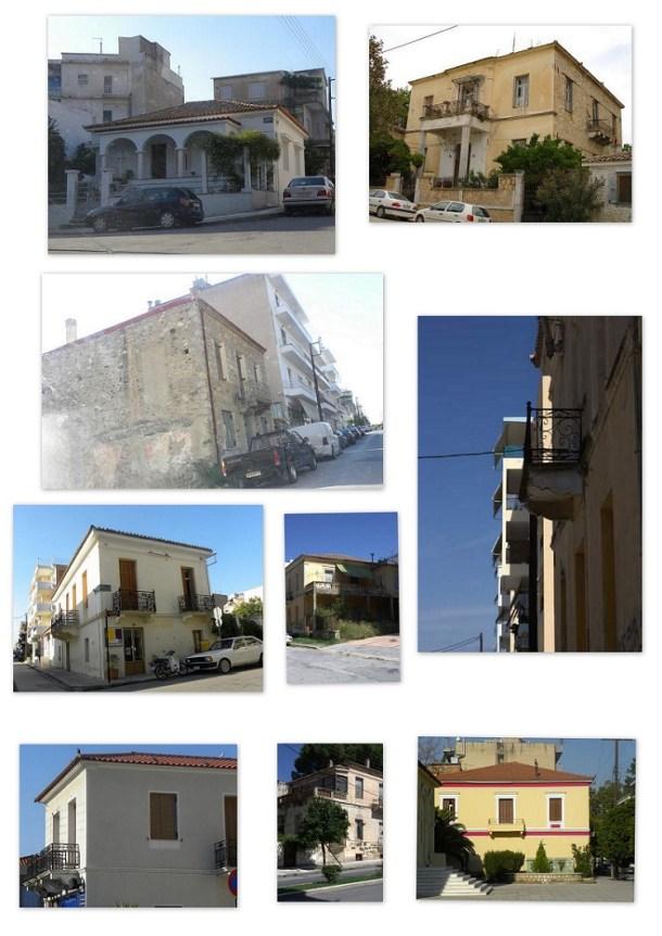 Κολάζ παλιά σπίτια εικόνα