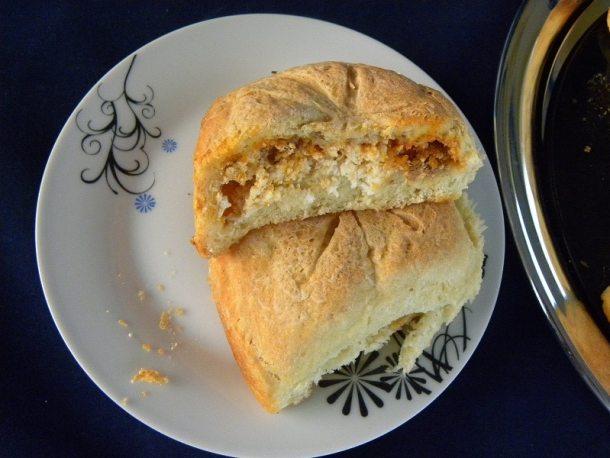 Ψωμάκια Γεμιστά με Κιμά και Φέτα