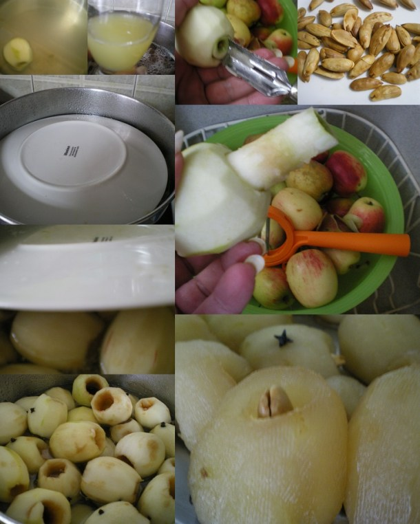 Κολάζ γλυκό μήλο φυρίκι φωτογραφία