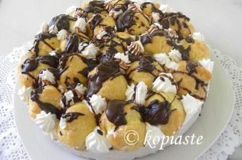 Profiterole chocolate cheesecake image