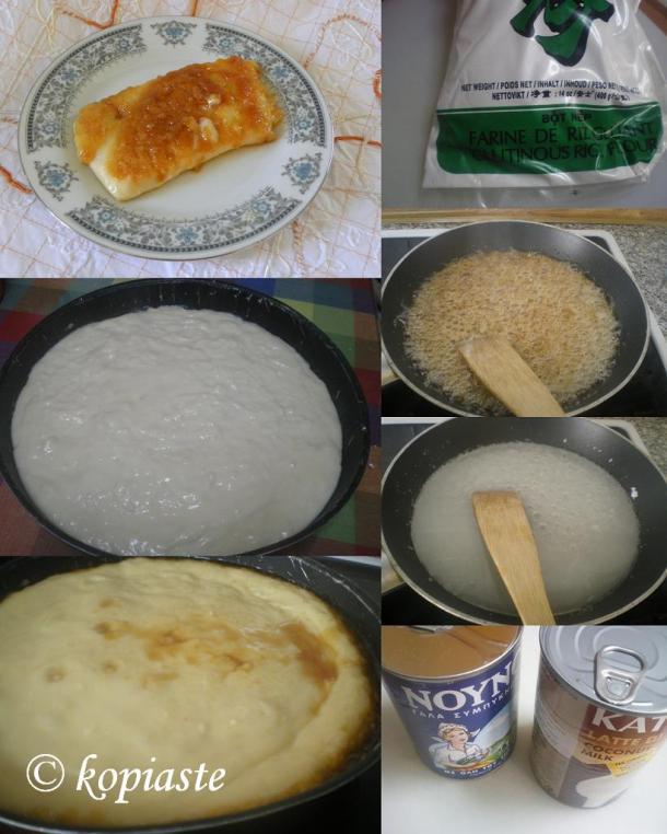 Κολάζ καραμελωμένο ρυζόγαλο εικόνα