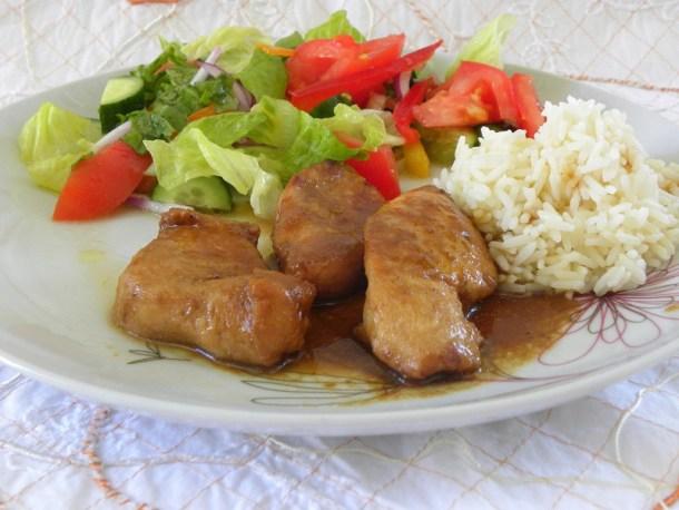 Κοτόπουλο Τεριάκι με Πορτοκάλι και Πετιμέζι